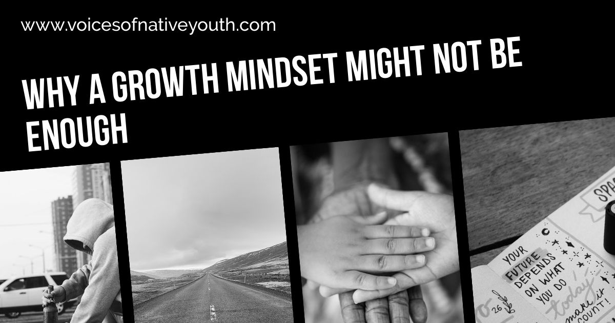 Having a growth mindset might not be enough for a Native youth to achieve his or her goals. Three other factors (ones you can help with) play a part. #pygmalioneffect #growthmindset #nativeyouth #education